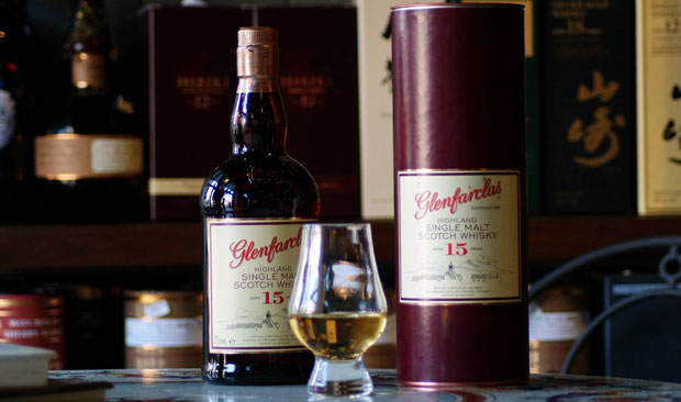 Glenfarclas single malt 15 år fra Speyside Scotch whisky 46%